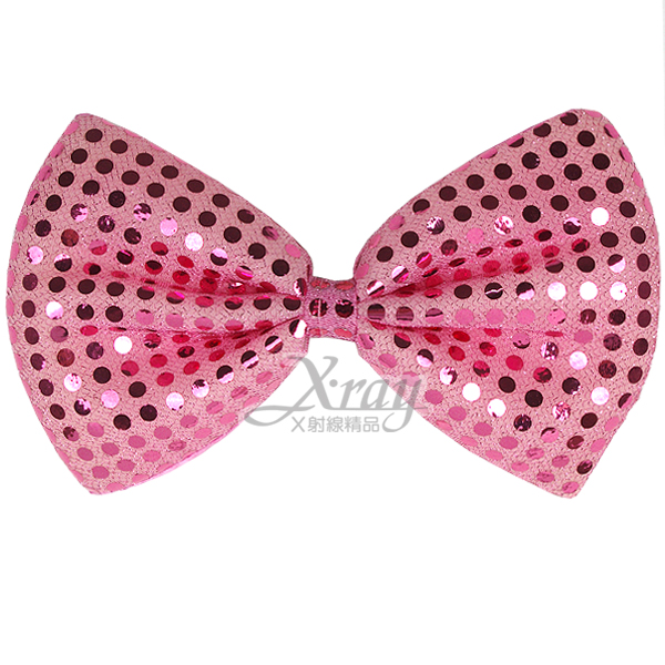 X射線【W280004】亮片蝴蝶結(粉紅),萬聖節服裝/派對用品/舞會道具/cosplay服裝/角色扮演