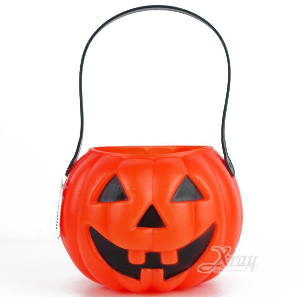 X射線【W396724】6吋南瓜造型糖果提籃,萬聖節糖果袋/糖果籃/派對道具/兒童變裝