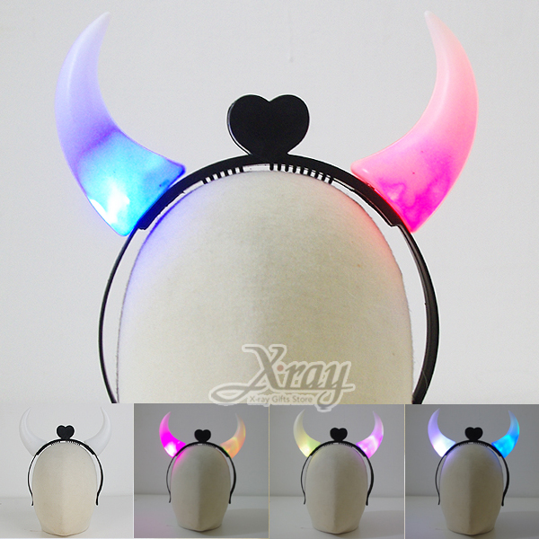 X射線【W917522】七彩閃光魔鬼頭飾,化妝舞會/表演造型/尾牙表演/聖誕節/派對道具/cosplay
