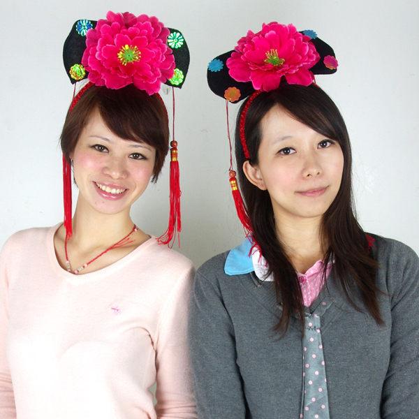 X射線【W404498】格格造型頭戴飾,髮圈/髮箍/表演造型/萬聖節服裝/派對道具/化妝舞會