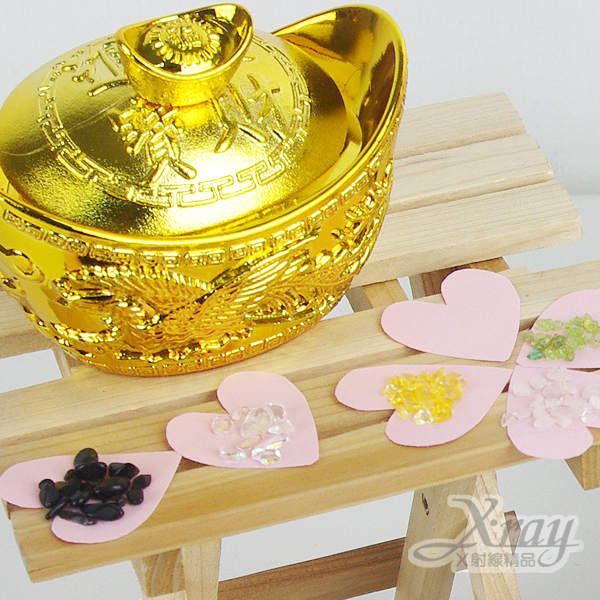 X射線【Z410006】開運招福招財五色石,春節/羊年/聚寶盆果盆/擺飾
