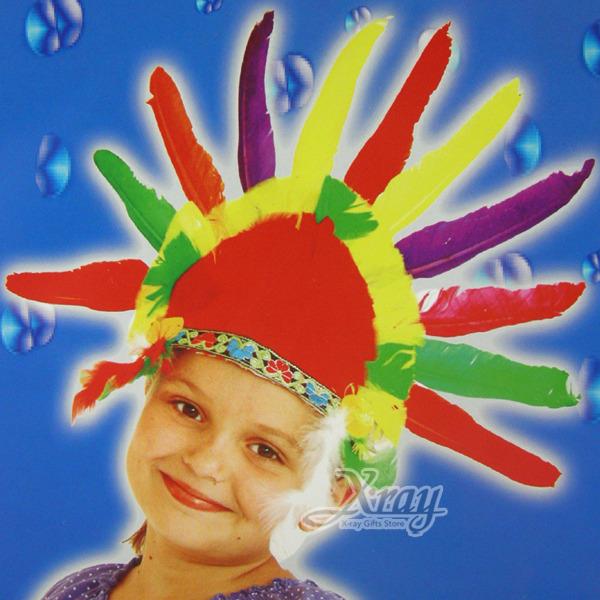 X射線【W641136】印地安羽毛頭飾(小孩),萬聖節/Party/角色扮演/化妝舞會/表演造型都合適~