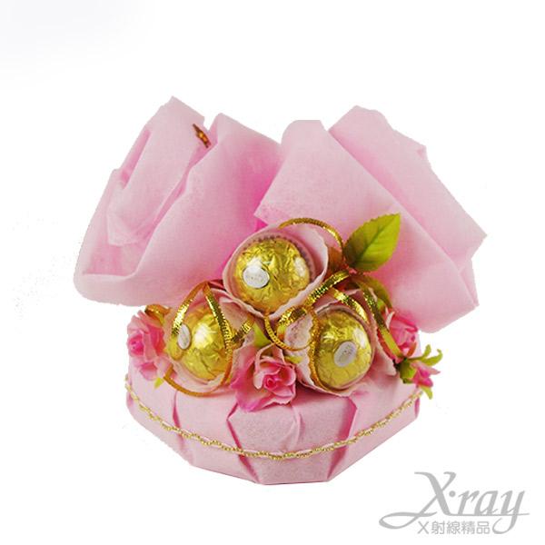X射線【Y999949】L.O.V.E告白金莎禮盒(曖昧粉),情人節金莎花束/情人節禮物/婚禮小物