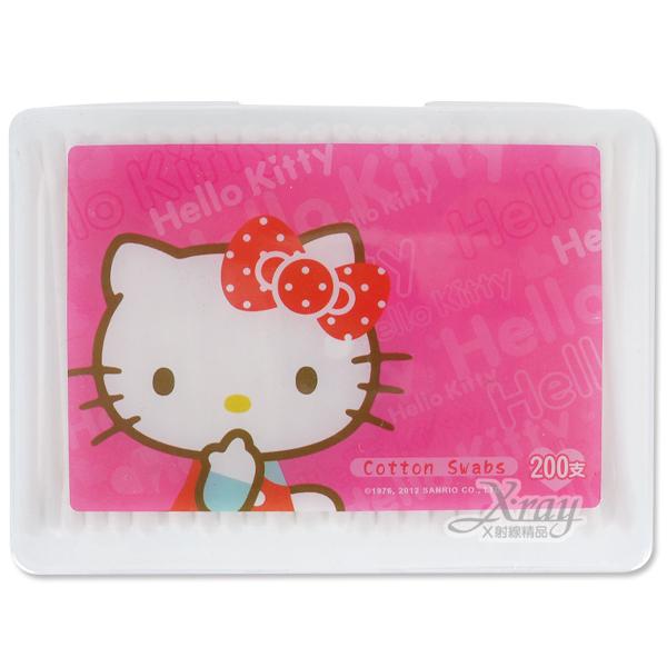 X射線【C203129】Kitty塑軸棉花棒-200支入,嬰幼兒安全棉花棒/隨時保持個人清潔及衛生~