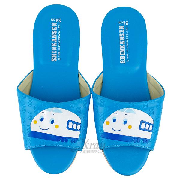 X射線【C522766】新幹線室內皮製拖鞋(藍色),兒童拖鞋/室內拖鞋/舒適拖鞋/休閒拖鞋/生活居家/台灣製