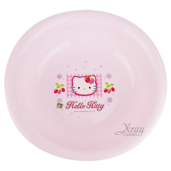 X射線【C120200】Kitty蘋果草莓臉盆(小),衛浴用品/浴室