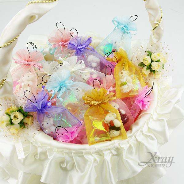 X射線【Y110011】小熊糖果紗袋(含紗袋+糖果+小熊),第二次進場/送客/婚禮小物