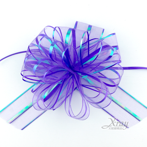 X射線【Y990003】手拉花緞帶(紫),織帶/緞帶花/D I Y手工藝/包裝材料/花藝材料/婚禮佈置/會場佈置