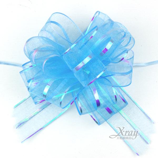 X射線【Y990004】手拉花緞帶(藍),織帶/緞帶花/D I Y手工藝/包裝材料/花藝材料/婚禮佈置/會場佈置