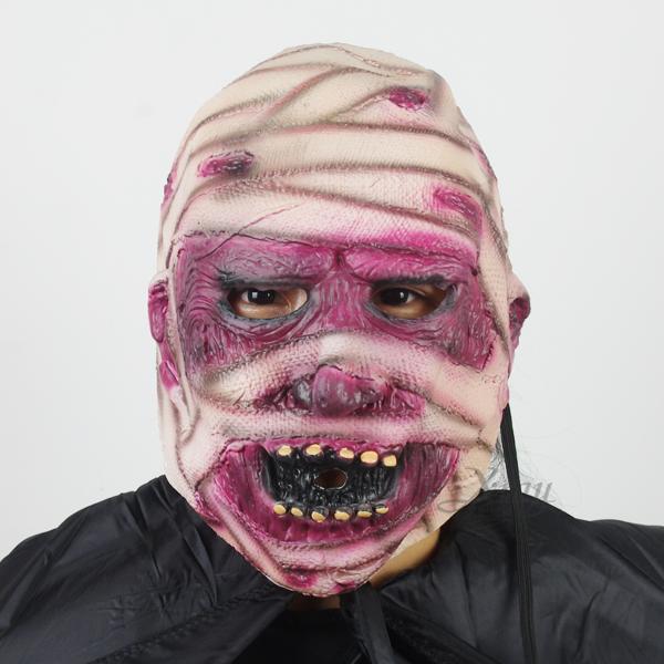 X射線【W401220】乳膠半罩面具-繃帶人,萬聖節服裝/派對用品/尾牙表演/角色扮演