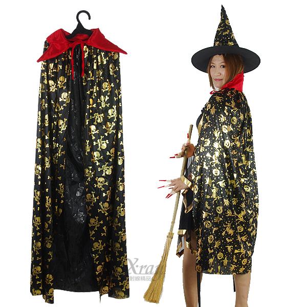 X射線【W413322】吸血鬼立領披風,萬聖節服裝/化妝舞會/派對道具/兒童變裝