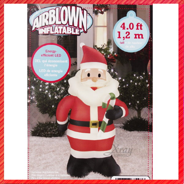 X射線【X882986】4尺老公公充氣(拿拐杖),聖誕/聖誕佈置/充氣擺飾好收納/好使用