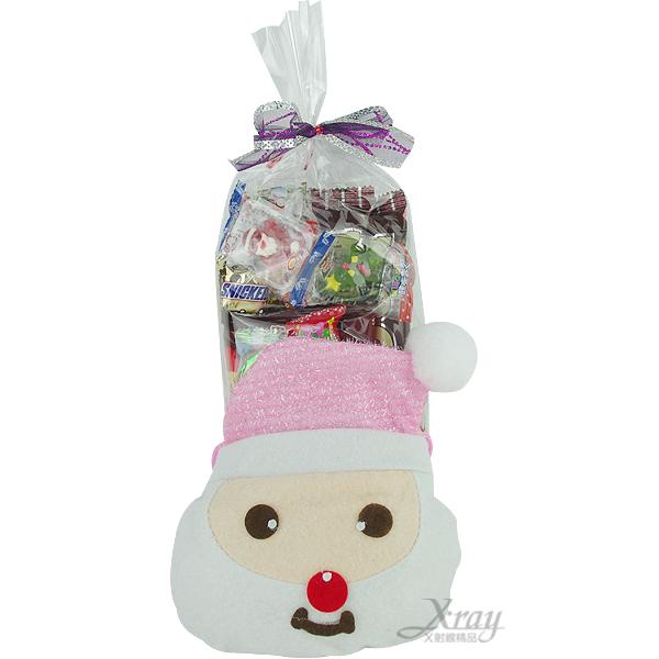 X射線【X2945012】老公雪人糖果袋糖果組(粉紅),聖誕襪/聖誕節禮物/禮物袋/聖誕糖果/聖誕大餐
