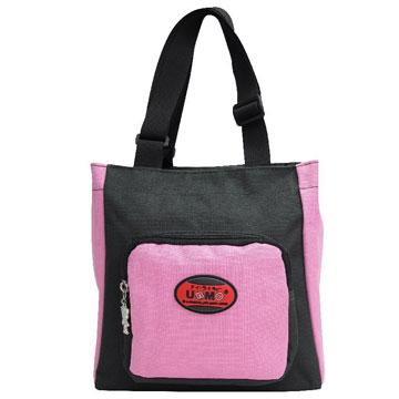 X射線【Cpk3112】UnMe多功能手提便當袋萬用提袋(粉黑)台灣製造,開學必備/兒童書包/雙肩包/手提包