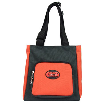 X射線【Crk3112】UnMe多功能手提便當袋萬用提袋(紅黑)台灣製造,開學必備/兒童書包/雙肩包/手提包