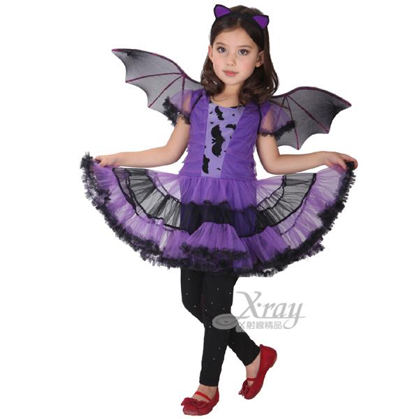 X射線【W648081】小紫蝙蝠女,化妝舞會/角色扮演/尾牙表演/萬聖節/聖誕節/兒童變裝