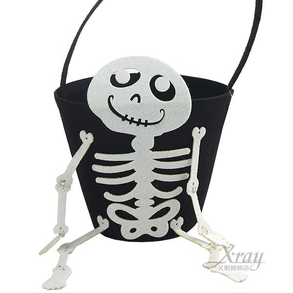 X射線【W480005】南瓜桶-骷髏,萬聖節服裝/派對用品/尾牙表演/角色扮演/舞會道具