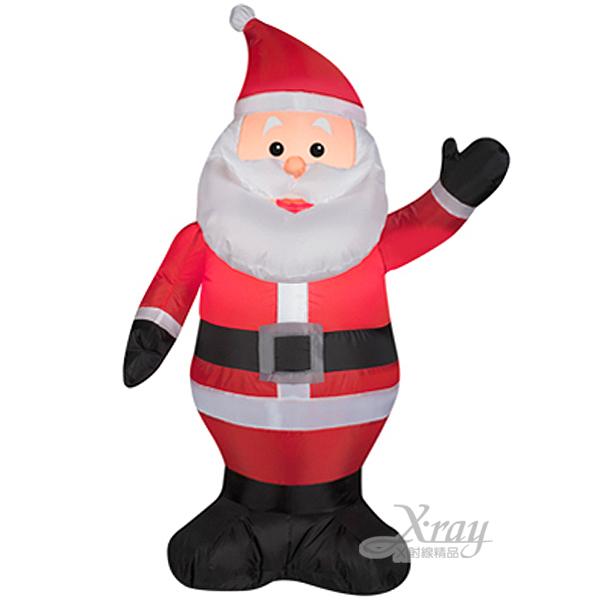 X射線【X089980】107cm小老公公充氣(舉左手),聖誕/聖誕佈置/充氣擺飾好收納/聖誕充氣