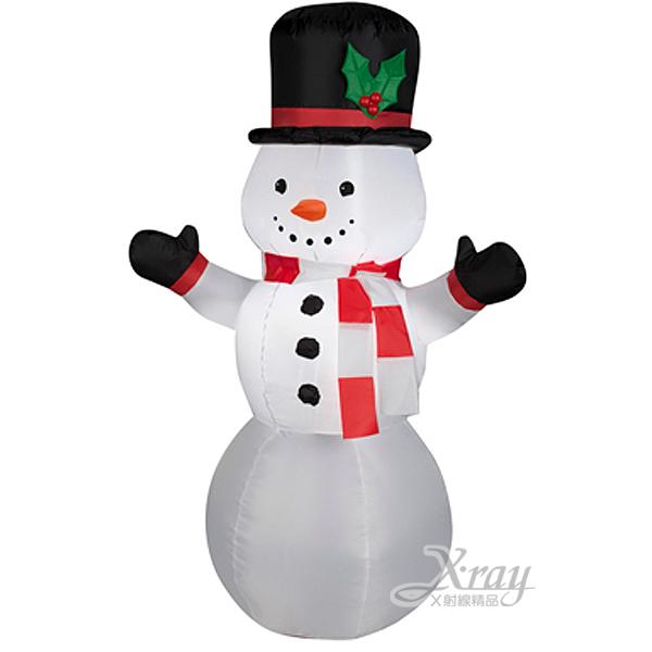 X射線【X089981】107cm小雪人充氣(舉雙手),聖誕/聖誕佈置/充氣擺飾好收納/聖誕充氣