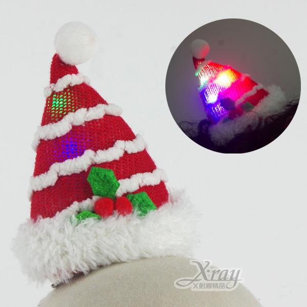 X射線【X280010】聖誕發光髮夾(紅白),化妝舞會/表演造型/尾牙表演/聖誕節/派對道具