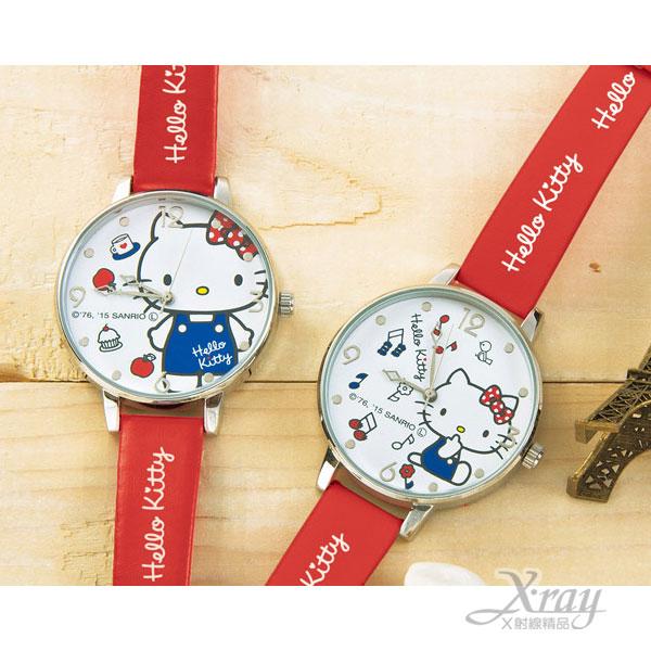 X射線【C150201】Hello Kitty 造型手錶景品(紅.法國國旗),日本進口限量商品