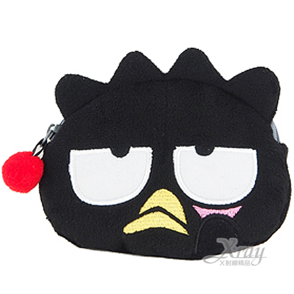 X射線【C924705】酷企鵝造型化妝包(黑.大臉.頭型),化妝袋/美妝小物/拉鏈袋/絨毛娃娃化妝包