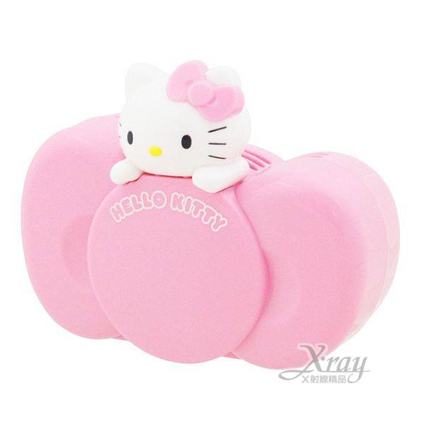 X射線【C864452】Hello Kitty 蝴蝶結造型車用芳香劑(粉.洗髮香),芳香包/芳香瓶