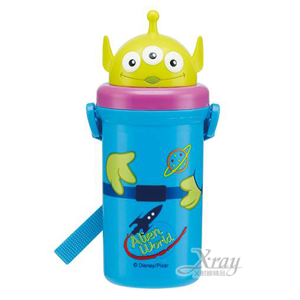 X射線【C268502】三眼怪 立體彈跳吸管水壺(頭型蓋)500ml,Disney迪士尼/水瓶/隨身瓶/飲水壺/外出水壺