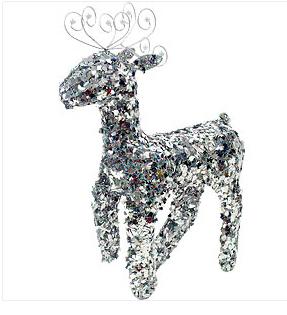 X射線【X130009】站鹿76cm(銀),聖誕麋鹿/聖誕擺飾/聖誕禮物袋/聖誕老人衣服