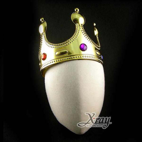 X射線【W040003】國王皇冠(金),萬聖節/Party/角色扮演/化妝舞會/表演造型都合適~