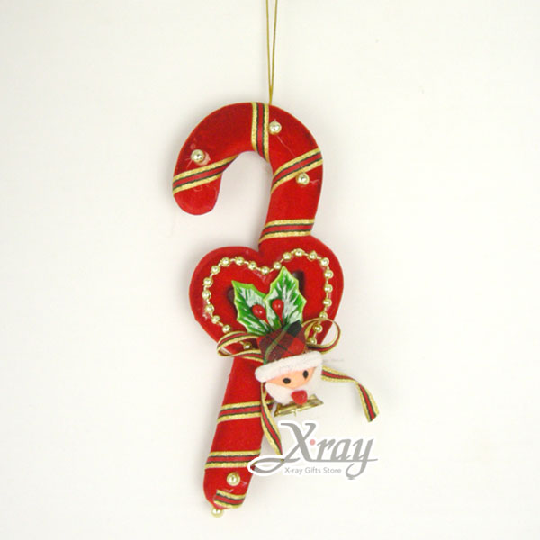 X射線【X200011】拐杖吊飾(7吋),聖誕/聖誕佈置/裝飾/吊飾/交換禮物