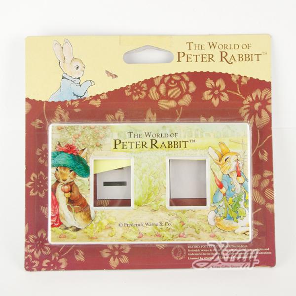 X射線【C072921】彼得兔2孔開關版(吃蘿蔔),居家收納/裝飾/置物盒/送禮/辦公用品/畢業禮物/家庭雜貨