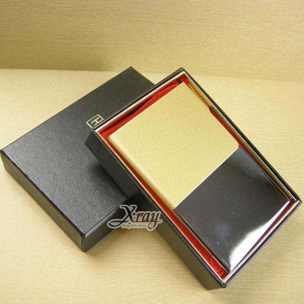 X射線【Y630291】時尚隨身輕巧金屬名片夾/名片盒(金色),情人節/禮物