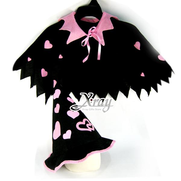 X射線【W409073】愛心巫婆披風套組,萬聖節服裝/化妝舞會/派對道具/兒童變裝/尾牙表演