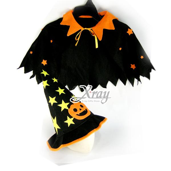 X射線【W409080】南瓜星星披風套組,化妝舞會/角色扮演/尾牙表演/聖誕節/兒童變裝