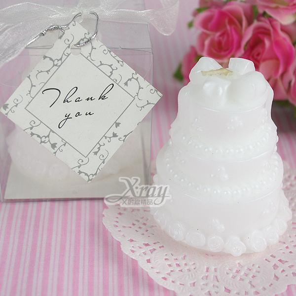 X 射線【Y150005】造型蠟燭婚禮小物系列-(小3層蛋糕)含絲帶