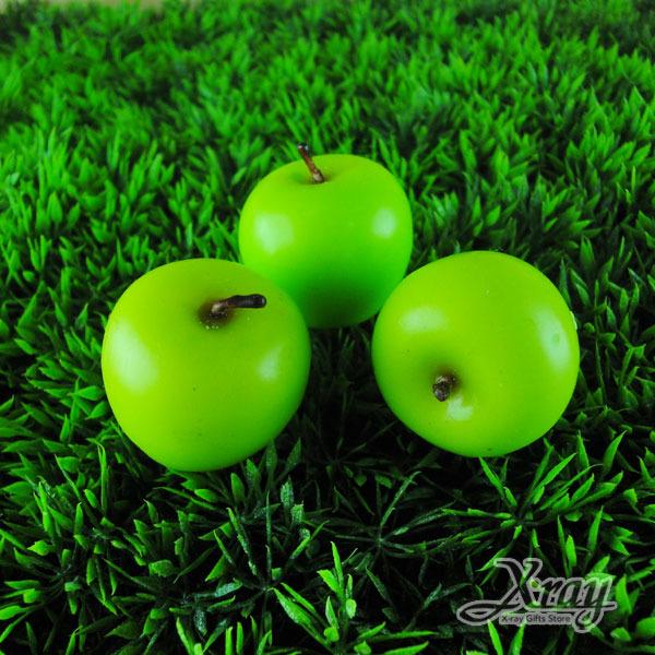 X射線【B491505】造型水果香味蠟燭/婚禮小物(青蘋果)