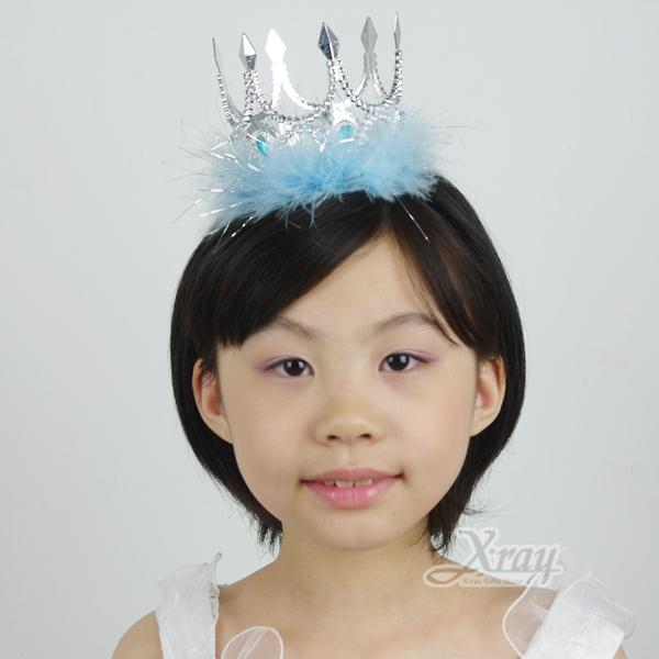 X射線【W408281】萬聖節國王式羽毛皇冠,Party/角色扮演/化妝舞會/表演造型都合適~(藍色)