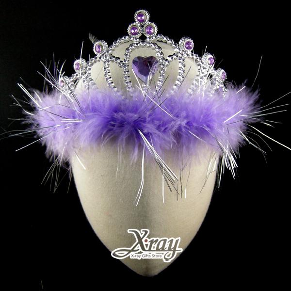 X射線【W408298】萬聖節愛心羽毛皇冠,Party/角色扮演/化妝舞會/表演造型都合適~(紫色)