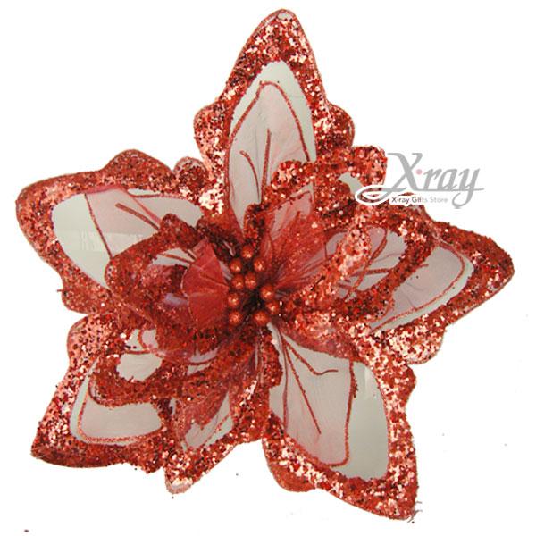 X射線【X959010】新金莎巨花(紅色),春節/過年/人造花/花材裝飾/假花