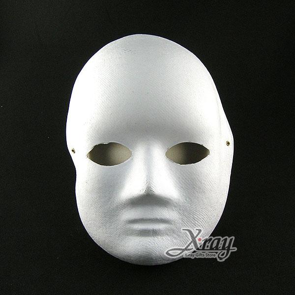 X射線【W600011】白色面具(可彩繪) - 派對裝扮/舞會變裝/表演都適合