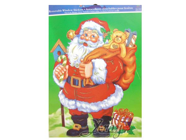 X射線【X388019】造型金粉靜電窗貼襪, 聖誕衣/聖誕帽/聖誕襪/聖誕禮物袋/聖誕老人衣服