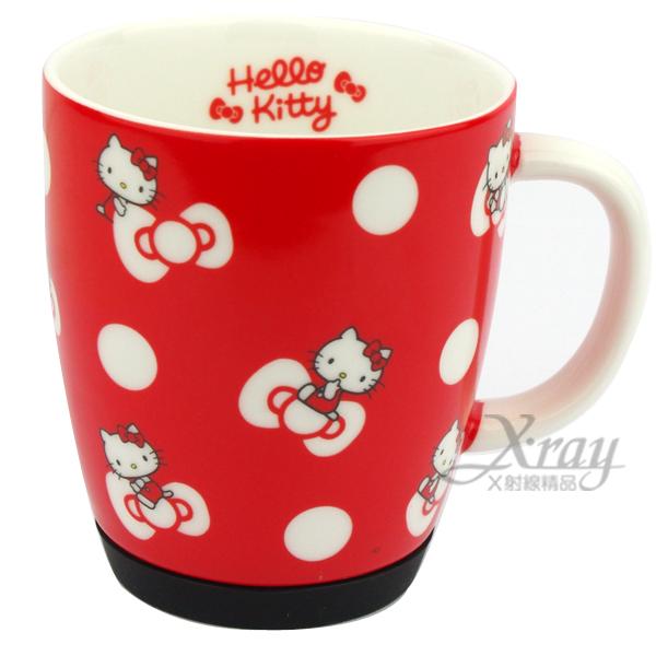 X射線【C032613】kitty防滑陶瓷馬克杯(紅.蝴蝶結),陶瓷杯/水杯/玻璃杯/茶杯/咖啡杯/開學必備