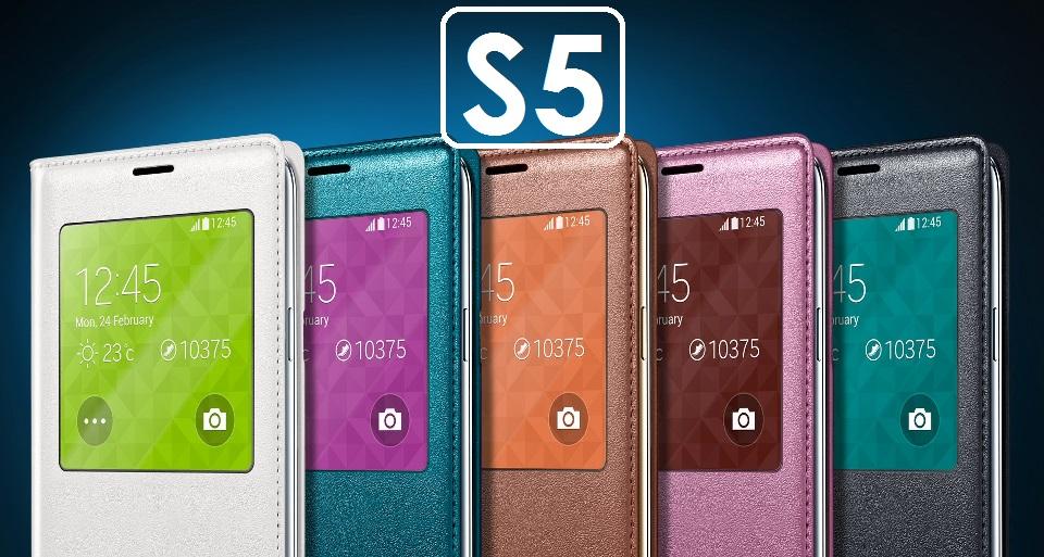 【原廠吊卡盒裝】三星 Samsung Galaxy S5 (G900) S View 原廠側翻皮套 保護套