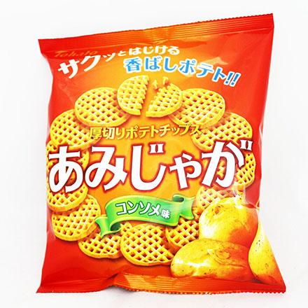 【敵富朗超巿】Tohato東鳩 厚切網狀洋芋片-雞汁