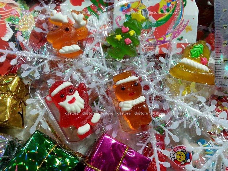 有樂町進口食品 聖誕節限定 聖誕QP軟糖 雪人 麋鹿 老公公 鈴鐺造型 1000g裝
