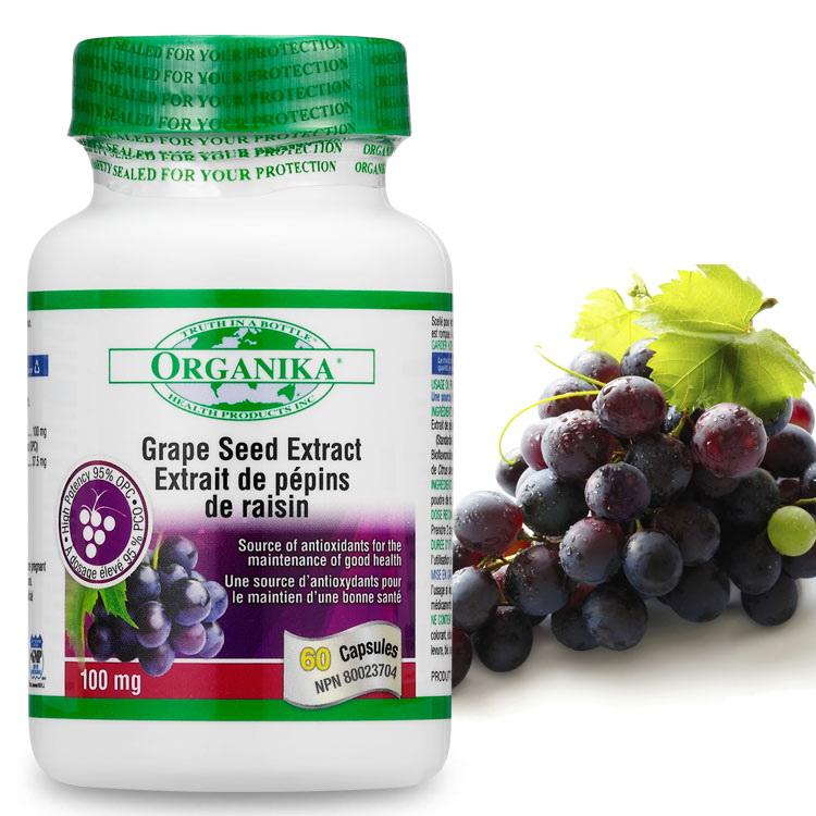 高單位葡萄籽(95%OPC)-加拿大Organika(優格康)