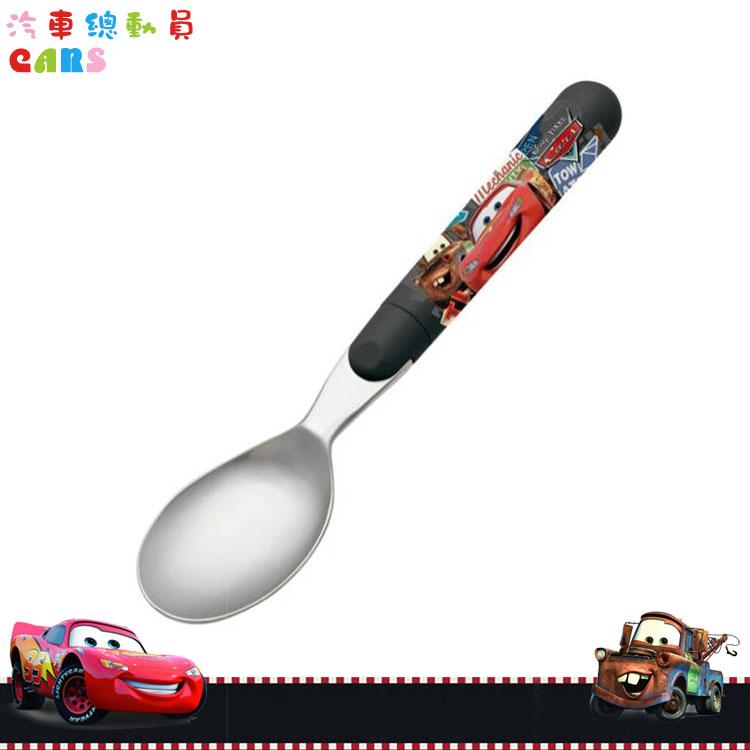 大田倉 日本進口正版 日本製 迪士尼 汽車總動員 閃電麥坤 Cars 不鏽鋼湯匙湯勺 兒童餐具 288609
