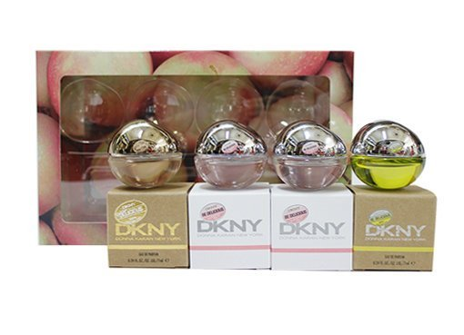 DKNY 小香禮盒4入*7ML (璀璨金蘋果*1+粉戀蘋果*2+青蘋果*1) ☆真愛香水★ 聖誕交換禮物女生