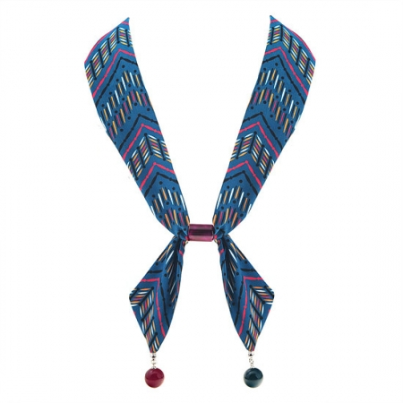 BHJ340-法國品牌Grain de Beaute 漂亮圓球磁扣式領巾 絲巾 圍巾 項鍊【韓國製】Aznavour